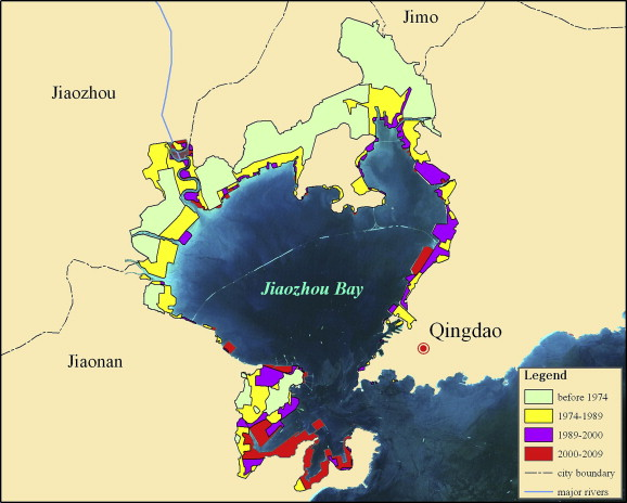 Framework And Practice Of Integrated Coastal Zone Management In - Jiaozhou city map