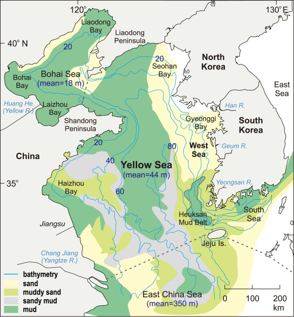 The Korean tidal flat of the Yellow Sea Physical setting ecosystem