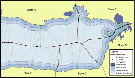 A cohesive methodology for the delimitation of maritime