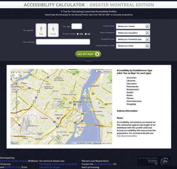 developing a web based accessibility calculator prototype for the