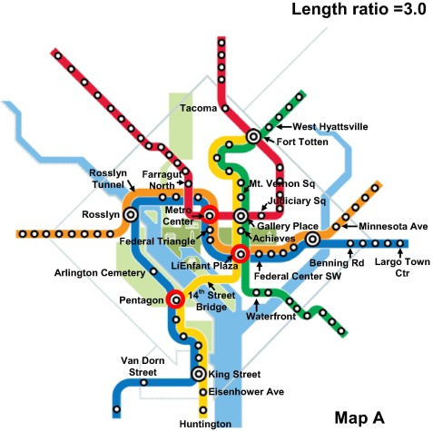 Redesigning subway map to mitigate bottleneck congestion An