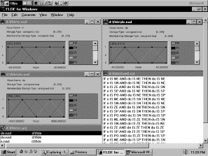 Training fuzzy logic controller software components by
