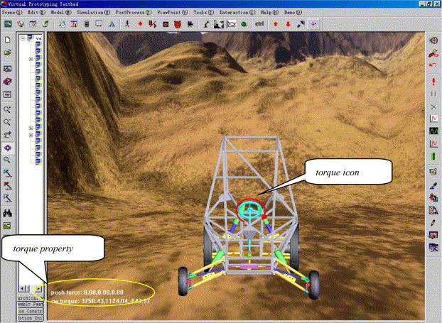 A virtual environment simulator for mechanical system dynamics with