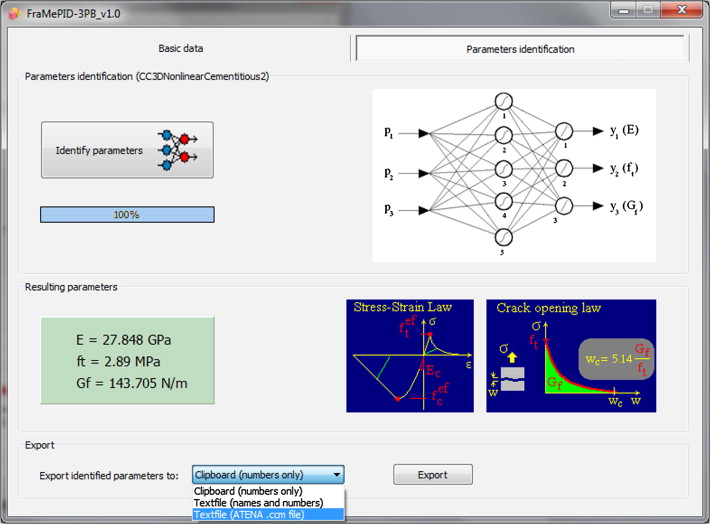 Framepid 3pb software for material parameter identification using framepid 3pb software window neural network structure and material parameter identification ccuart Image collections