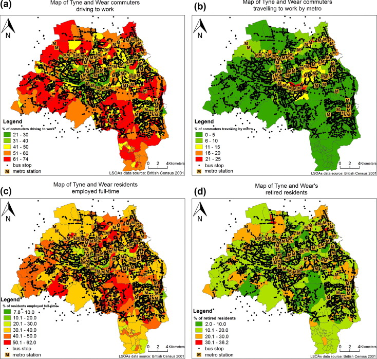 GIS as a tool for selection of sample areas in a travel behaviour