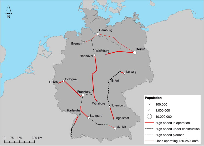 high speed rail network in germany