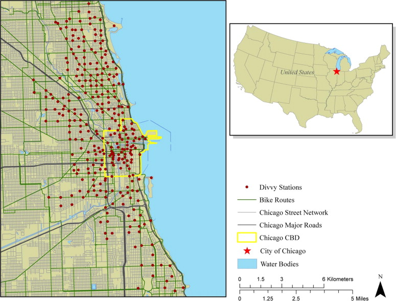 Divvy Map Chicago on