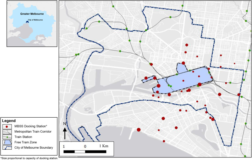 Does the role of a bicycle share system in a city change