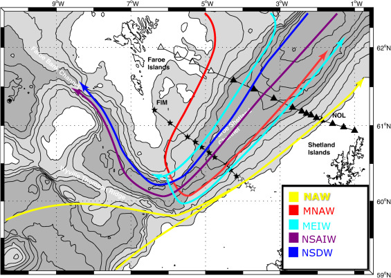 The decomposition of the Faroe-Shetland Channel water masses using ...