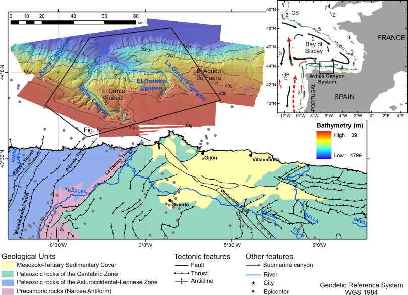 Geomorphology of the Avilés Canyon System, Cantabrian Sea