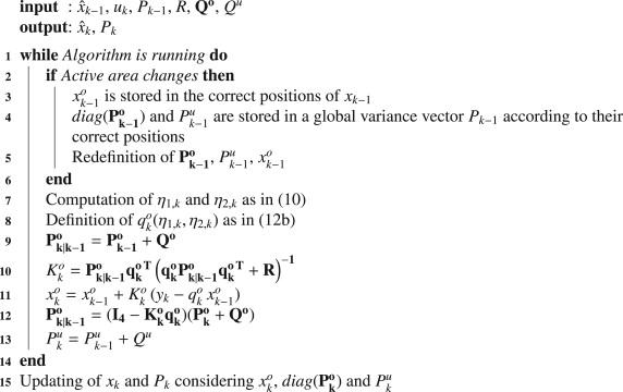 A computationally efficient Kalman filter based estimator for