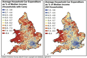 Financial Implications of Car Ownership and Use: a distributional