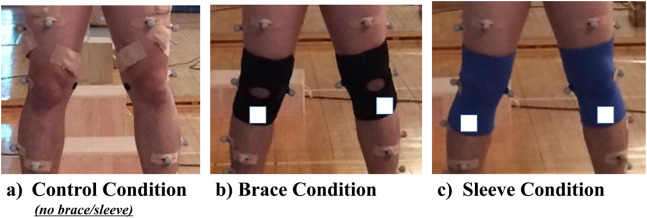 fe863ebccb Effect of wearing a knee brace or sleeve on the knee joint and ...