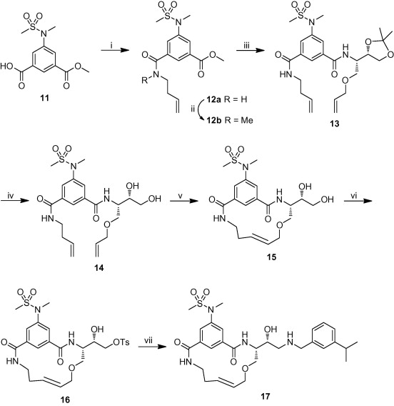 Highly potent macrocyclic BACE-1 inhibitors incorporating a