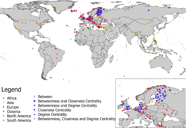 Identification Of Critical Airports For Controlling Global