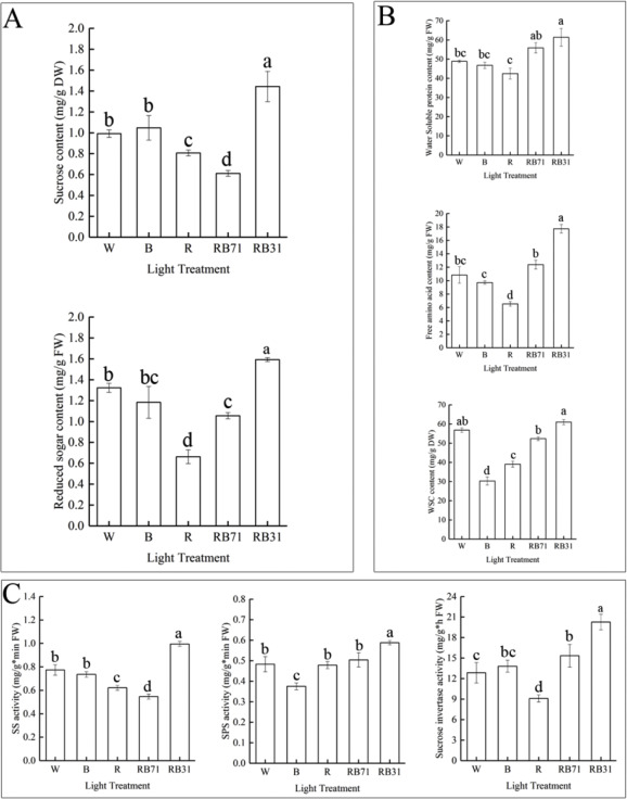 Secondary And Sucrose Metabolism Regulated By Different Light