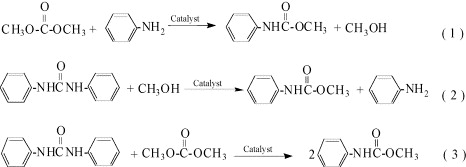 Synthesis of methyl N-phenyl carbamate from dimethyl