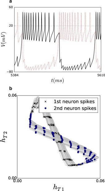 Mixed Mode Synchronization Between Two Inhibitory Neurons