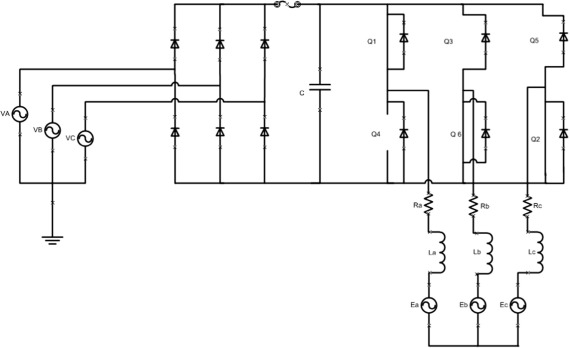 Effect of short circuited DC link capacitor of an AC–DC–AC