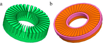 Using stator discharge current for the parameter estimation