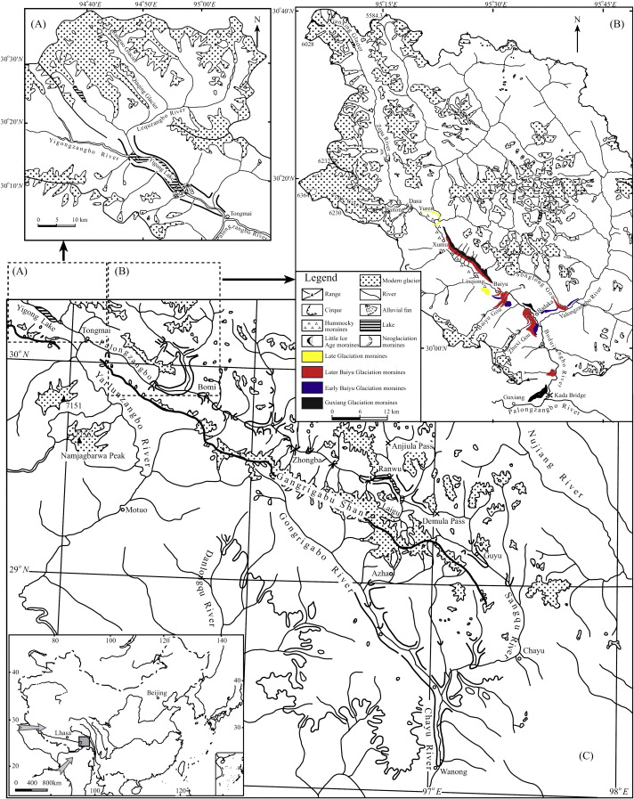 glacial advances in southeastern tibet during late quaternary and Tibet Hunting download full size image