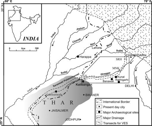 Kalibangan Map