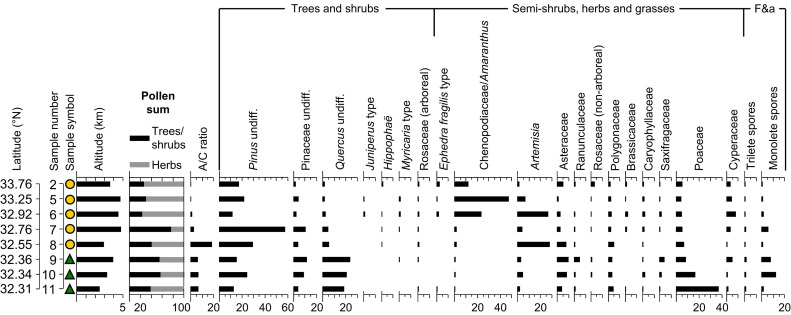 A Holocene pollen record from the northwestern Himalayan