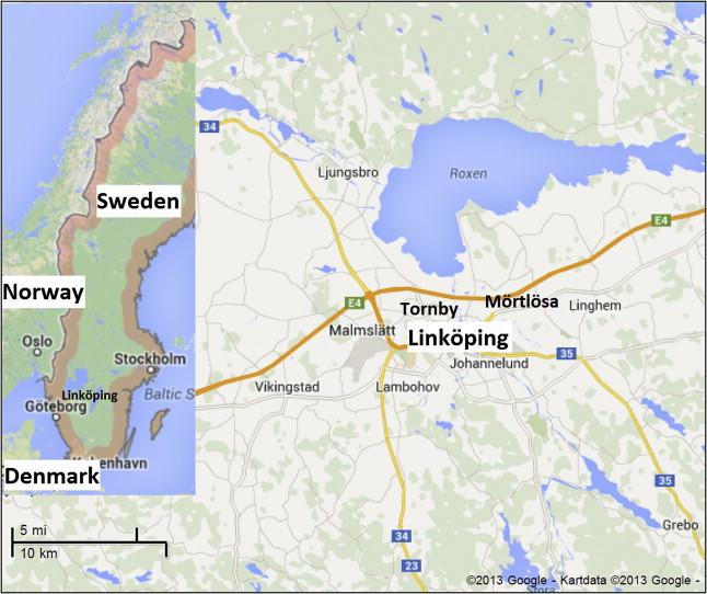 Foton av Malmslätts samhälle, tal - Flygvapenmuseum / DigitaltMuseum