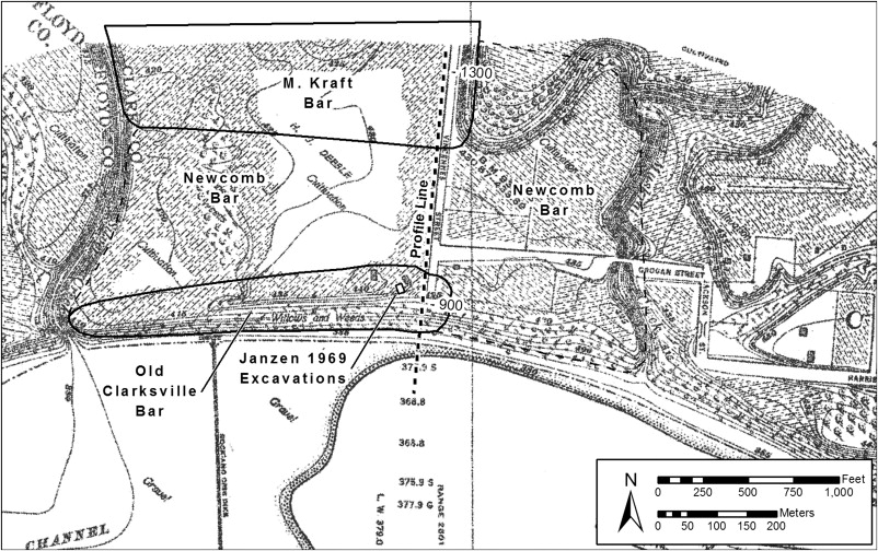Falls Of The Ohio Map.Geoarchaeology Of The Falls Of The Ohio River Quaternary Landforms