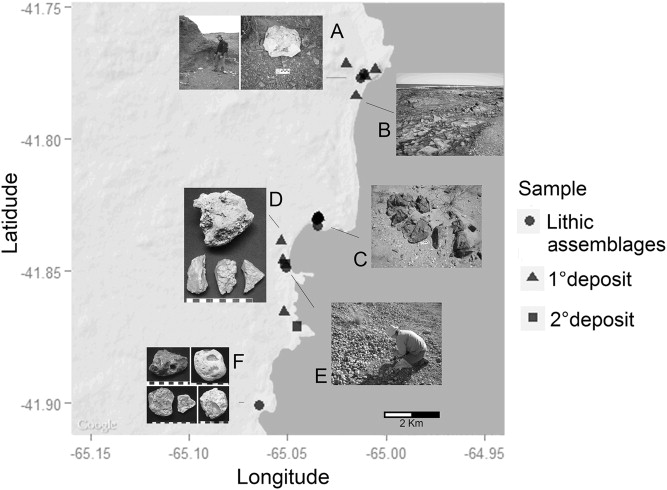 Primary And Secondary Lithic Raw Material Sources Along The