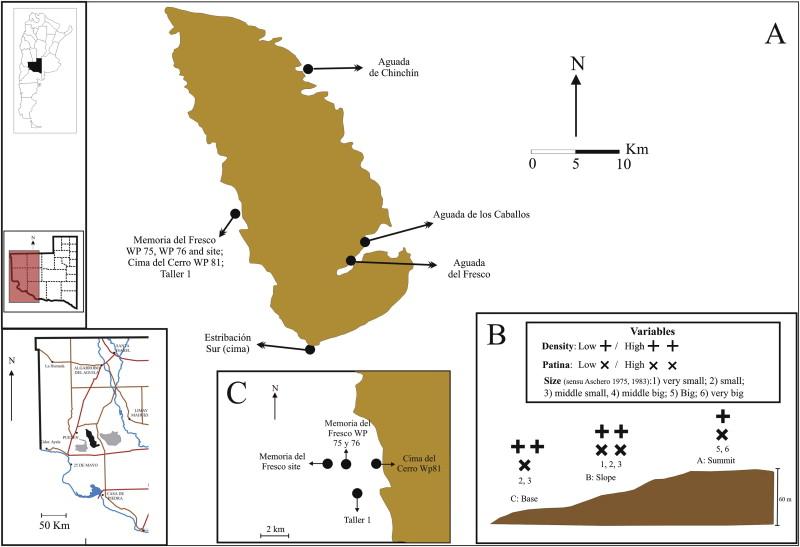 Study Of Siliceous Outcrops Of Meseta Del Fresco La Pampa