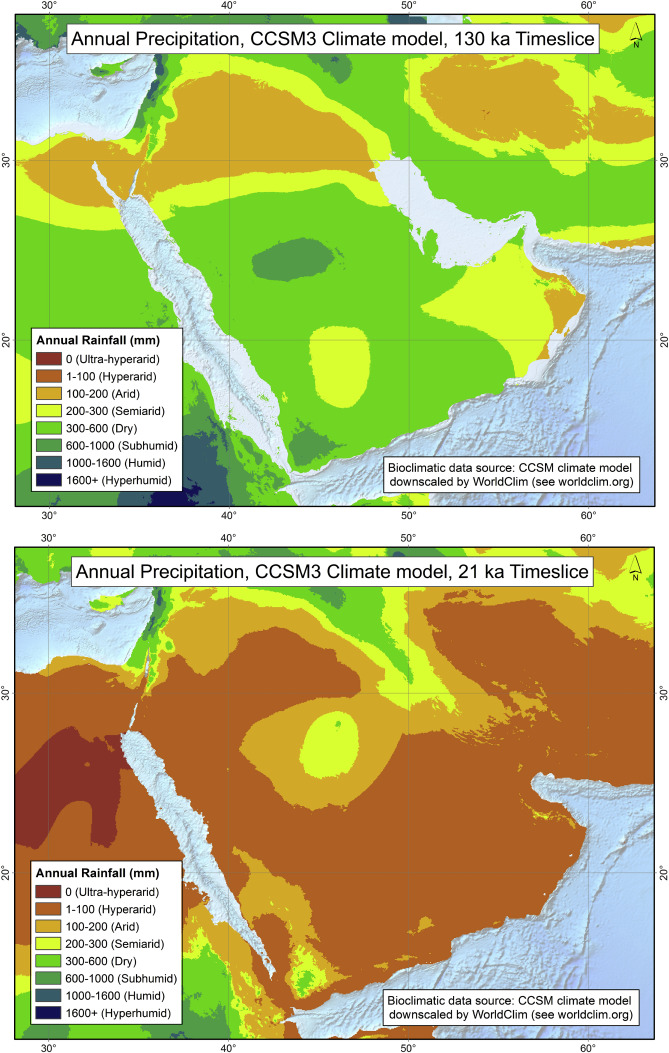Picture of: The Greening Of Arabia Multiple Opportunities For Human Occupation Of The Arabian Peninsula During The Late Pleistocene Inferred From An Ensemble Of Climate Model Simulations Sciencedirect