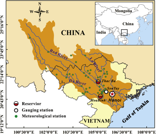 Interference Of Natural And Anthropogenic Forcings On Variations - Rivers of vietnam map