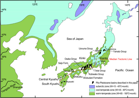 Stages Of Major Floral Change In Japan Based On Macrofossil Evidence