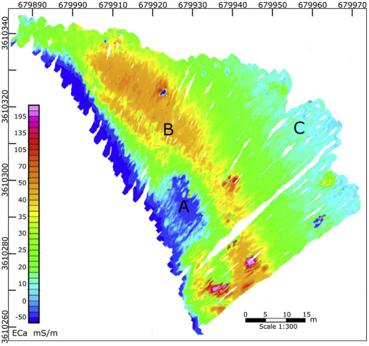 Water saturated sand and a shallow bay: Combining coastal geophysics
