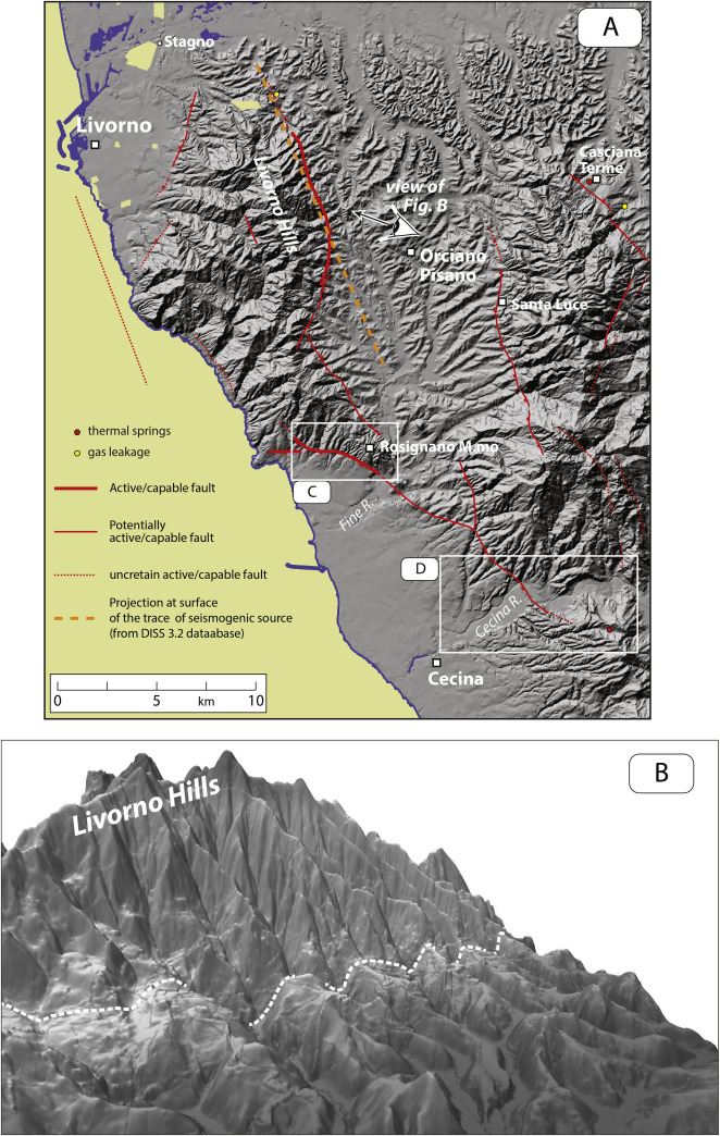 Mapping capable faulting hazard in a moderateseismicity high heat