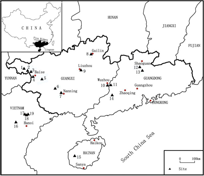 the late paleolithic industries of southern china lingnan region China Geographical Invenchins download full size image
