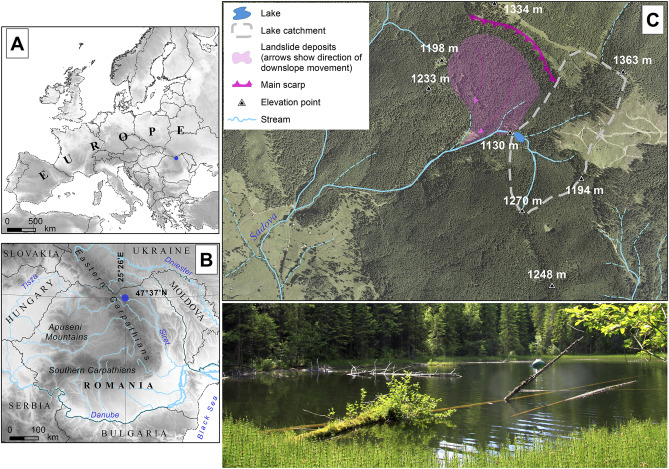 Natural and anthropogenic changes in a lake-forest system in