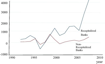 The long-term effects of bank recapitalization: Evidence from