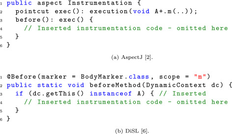 Optimizing type-specific instrumentation on the JVM with