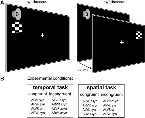 Task-demands and audio-visual stimulus configurations modulate