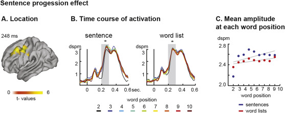 How the brain makes sense beyond the processing of single words – An