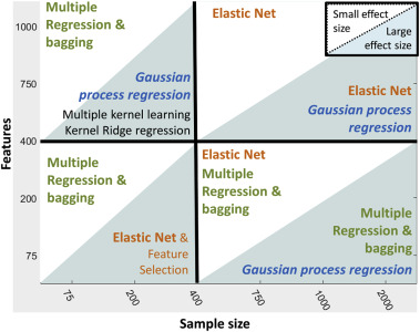 Quantifying performance of machine learning methods for neuroimaging