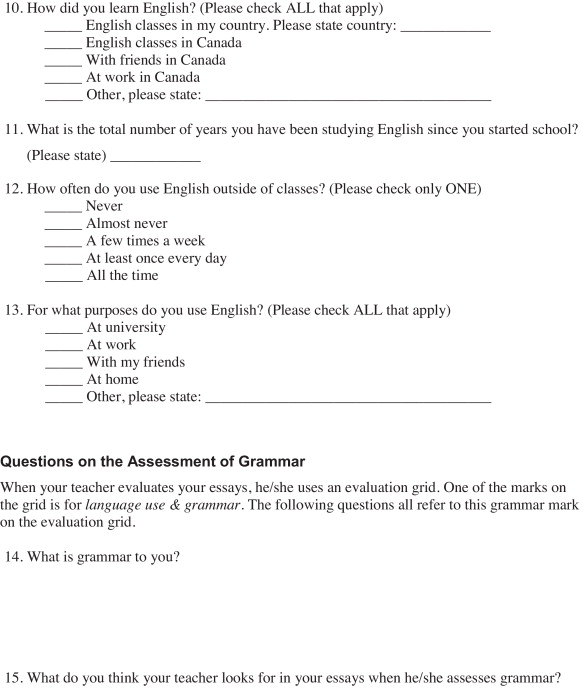 teacher assessment of grammatical ability in second language  download full size image