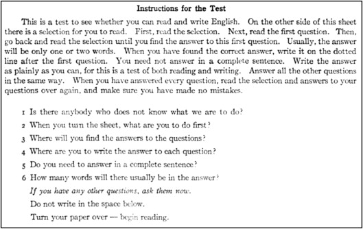 A History Of New York State Literacy Test Assessment Historicizing