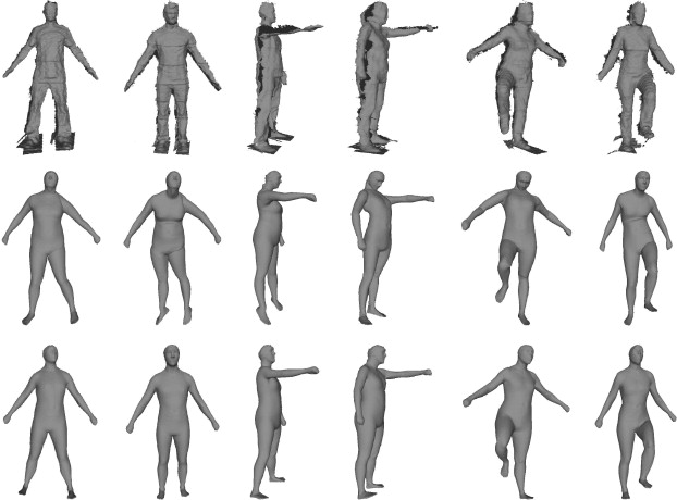 Estimation of human body shape and posture under clothing