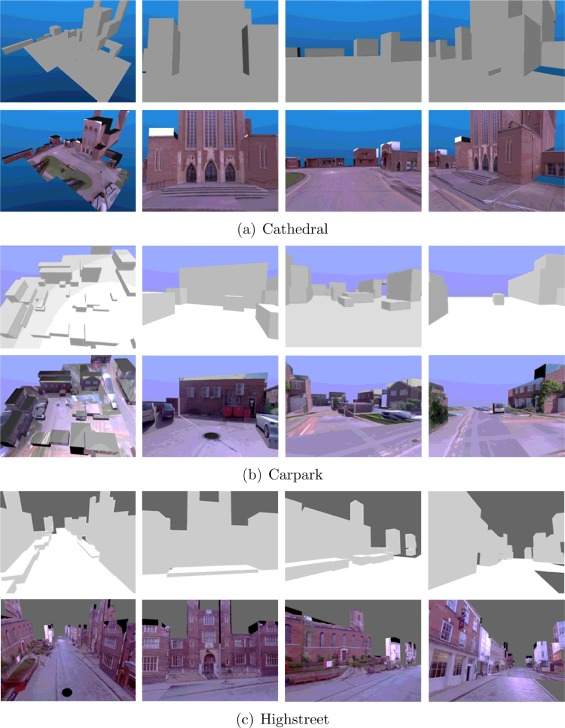 Block world reconstruction from spherical stereo image pairs