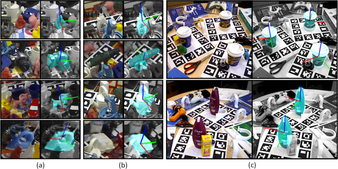 Holistic and local patch framework for 6D object pose estimation in