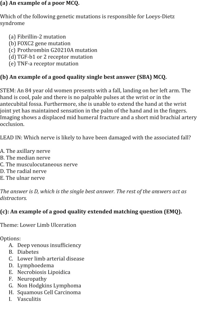 How to Write a High Quality Multiple Choice Question (MCQ