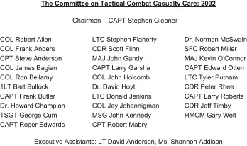 The Transition to the Committee on Tactical Combat Casualty Care